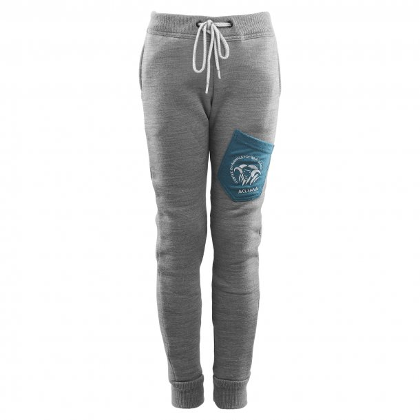 Aclima Fleecewool Joggers Junior Grey Mélange/Tapestry