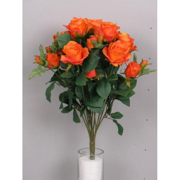 Blomst m/bånd stor orange N-20309-5