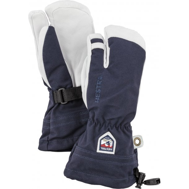 Hestra Army leather Heli Ski 3-finger Junior